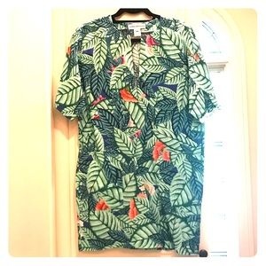 Mara Hoffman Leaf Print Linen Dress Size S